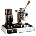 La Pavoni Set of Coffee Machine PLH and Grinder JDL on Base Luss