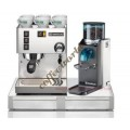 Rancilio Set of Silvia Coffee Machine, Rocky No Doser Coffee Gri