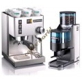 Rancilio Set of Silvia Coffee Machine and Rocky Doser Coffee Gri
